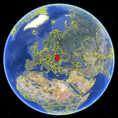 Romania pe glob
